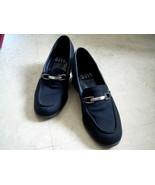 Nine West Microfiber Black Med-heel Loafer