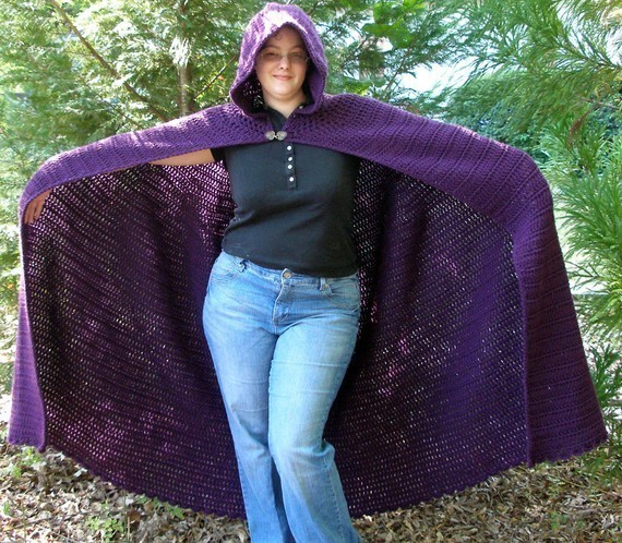Free Crochet Pattern For Hooded Cape : Hooded Cloak Patterns - My Patterns