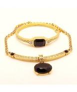 Elegant MONET Necklace Bracelet Black Rhineston... - $29.95