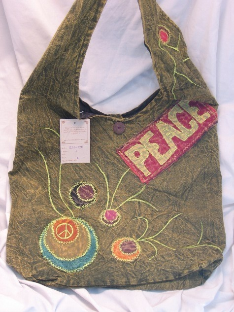 Bohemian Messenger Bag Peace Embroidered Bag Sling Bag
