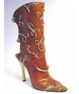 Earthly Delights Backless Boot Leaves Topaz Col... - $99.99
