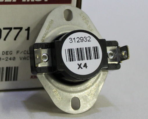 L125-10F Thermostat / Auto Reset Limit