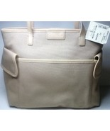 Cole Haan Tote Bag Nantucket Pocket Sand New - $89.00