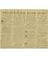 1789  PENNSYLVANIA PACKET Published by Printer ... - $90.00
