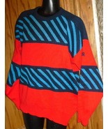 DEMETRE Mens Wool Colorful SKI Pullover Sweater size L