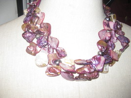 Keishi Pearl & Shells Necklace - $220.00