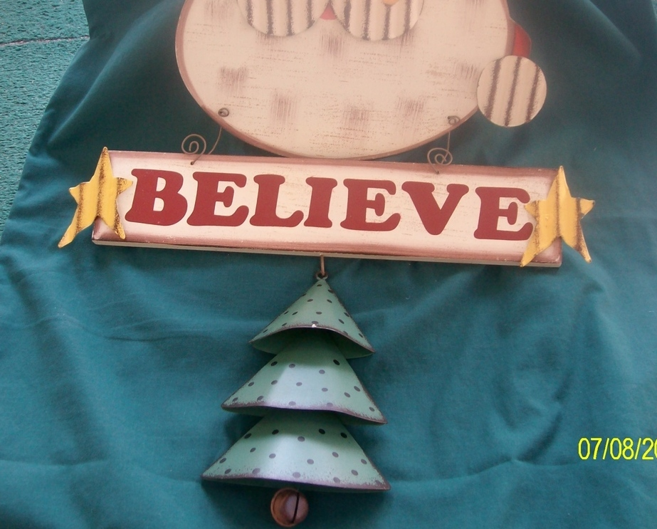 Image 1 of  I Believe Santa Door Hanger