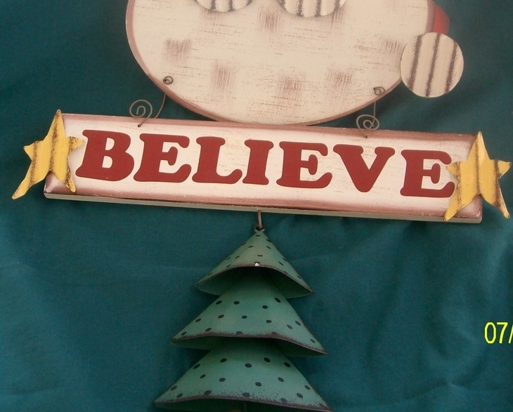 Image 3 of  I Believe Santa Door Hanger