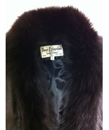 ELEGANT BLACK LEATHER COAT WITH FOX LONG By ROC... - $624.99