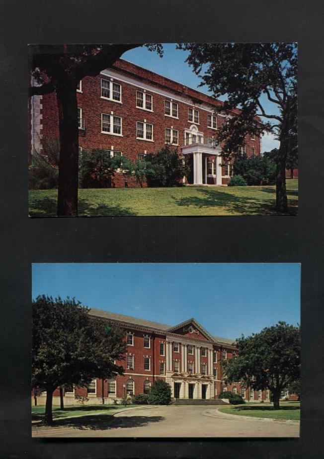 Lot 4 Vintage Postcards Texas Womans University Denton TX Halls