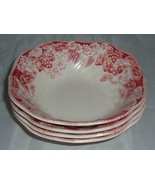Johnson Brothers Strawberry Fair Square Cereal Bowls - 4 - $26.99