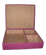Papyrus Purple Croc Leather Jewelry Box trinket... - $29.77