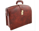Buy Briefcases - Pratesi Laptop Compatible Top Frame Briefcase bag New