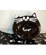 Cat Food glass water Bowl Dish plastic Mat pet ... - $19.77