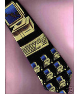 Computer geek Keyboard black Neck Tie novelty m... - $29.77