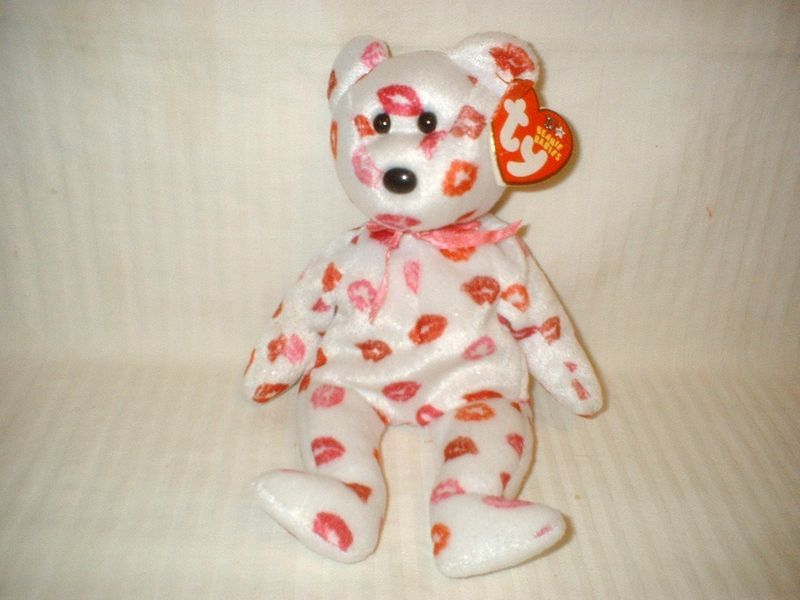 TY Beanie Baby KISSY the Bear VALENTINE'S Day Gift!