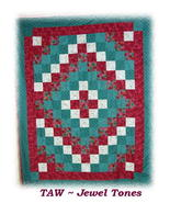 *Customized Handmade Twin Size Quilt* TAW Design* - $170.00