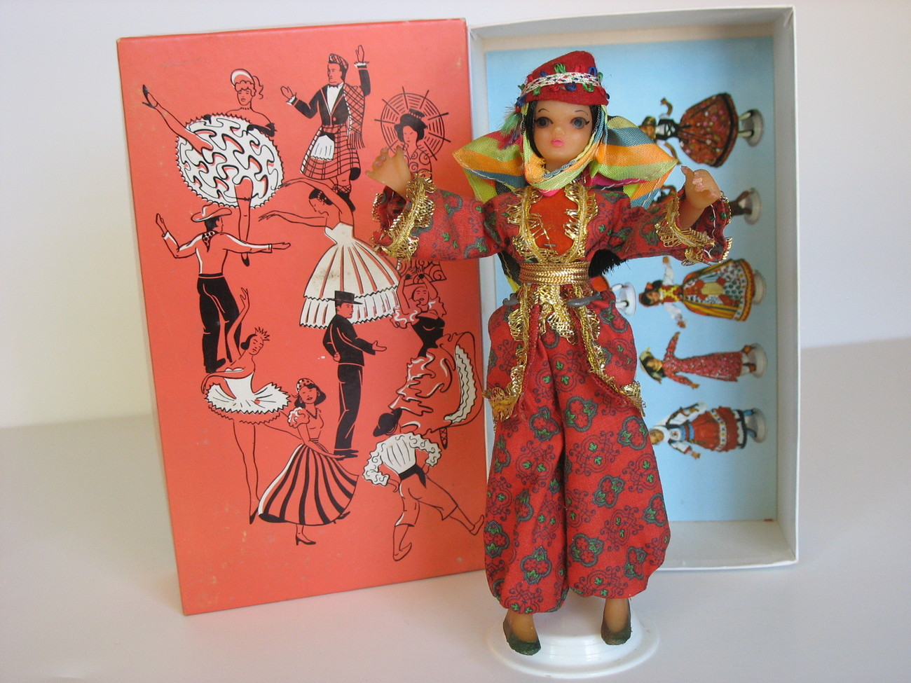 Vintage Flagg Doll Burma Vinyl Original Box