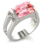 Ladies 2 Carat Pink CZ Ring - size 8