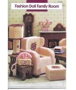 Family Room Plastic Canvas Patterns~Fit Barbie ... - £17.22 GBP