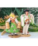Vintage Polish Folk Dolls Highlander Woman Man ... - $17.95