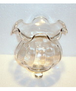 Home Interiors Victorian Style Peg Votive Cup Clear Glass Ruffled