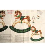 Vintage Fabric Panel Rocking Horses Applique Ch... - $9.95