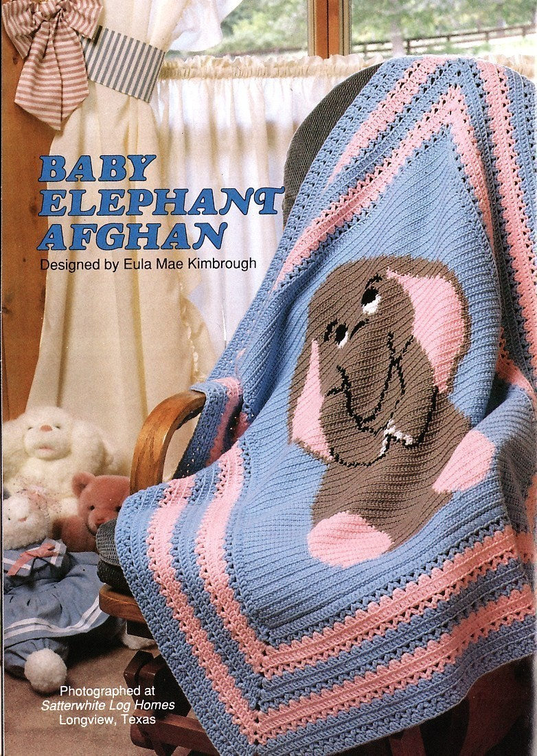 Baby Elephant Afghan Crochet Pattern Blanket Infants - Afghans