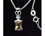 Buy Genuine 925 Sterling Silver Citrine Necklace Heart 16in