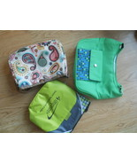 Lot of 3 Insulated Small Lunch Purse Bags Brigh... - $24.99