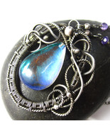 Dusk to Dawn - Silver and Mystic Quartz Necklace - $127.00