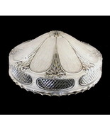 Glass Lamp Shade Clear Art Deco 1930's 3 Hole S... - $39.99