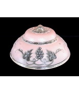 Glass Lamp Shade Pink Grapes Art Deco 1930's 3 ... - $39.99