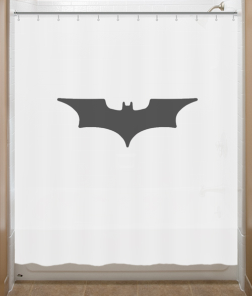 batman shower curtain batman begins bat logo sign shower