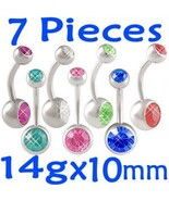 14g Belly Button Rings Navel Bar Body Jewelry L... - $14.67