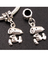Peanuts SNOOPY Silver Dangle Charm fits Pandora  - $6.95
