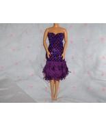 Purple Glitter Dot Fringe Roaring 20's Dress fi... - $5.95