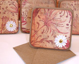Buy Gift Cards - Blank Handmade Mini Cards, Note Cards in Vintage Pink Design
