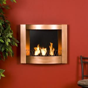 Copper Wall Mount Gel Fireplace