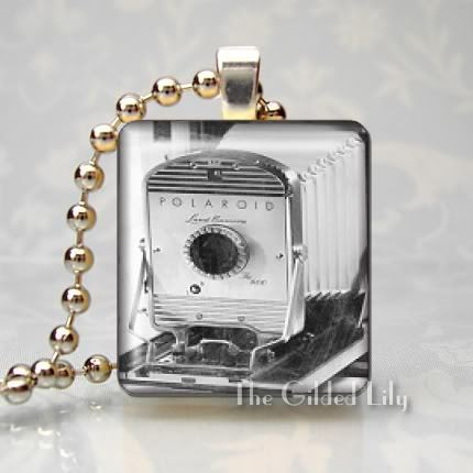 VINTAGE CAMERA PHOTOGRAPHY Scrabble Tile Pendant Charm