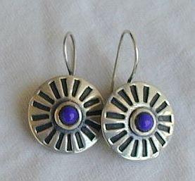 Blue rounds earrings