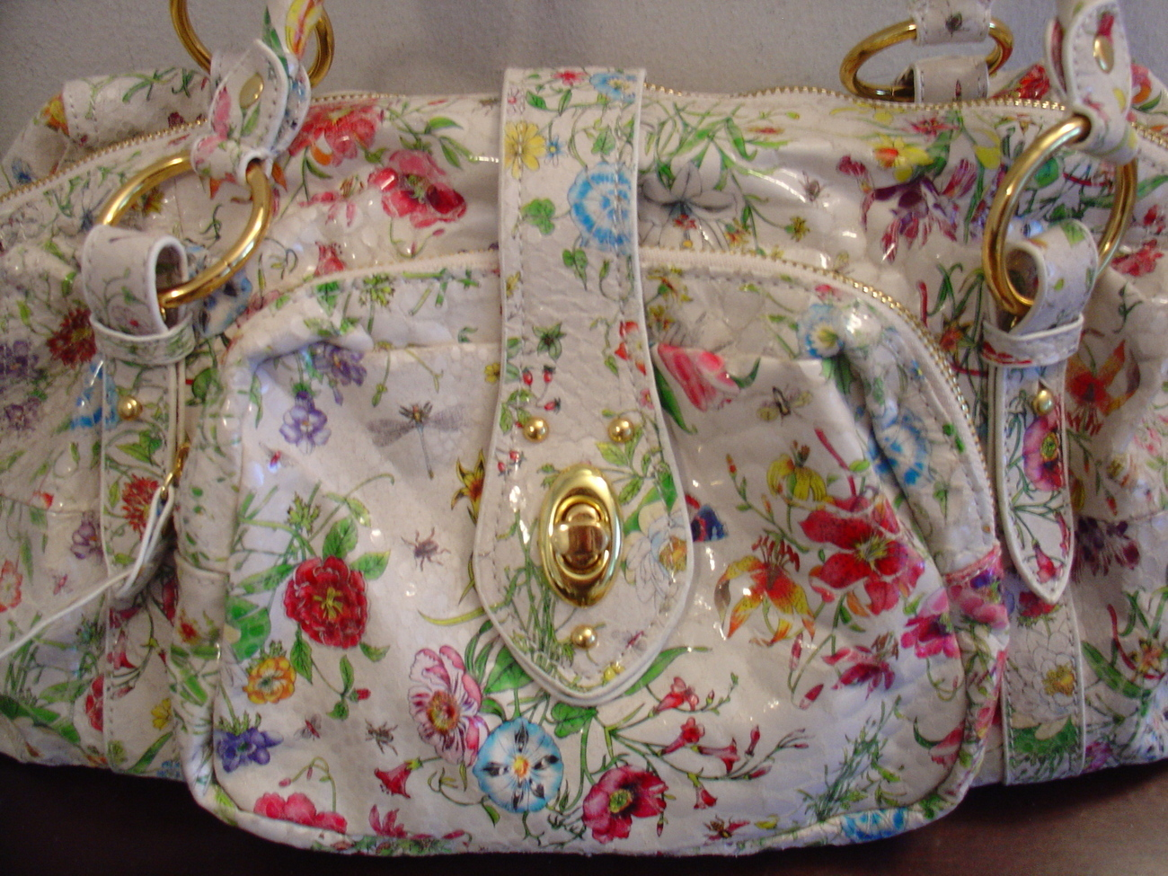 Big Buddha Floral Glazed Handbag