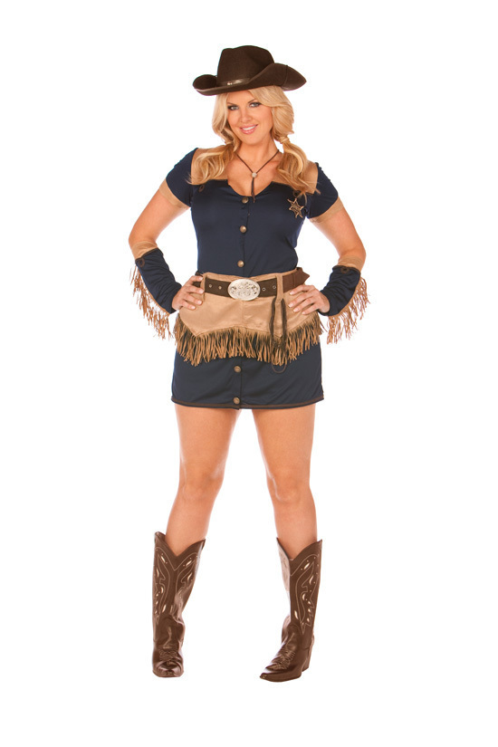 Halloween Costume Juniors Cowgirl Costume Size