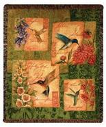 60x50 Hummingbird Bird Floral Tapestry Afghan T... - $45.00