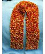 Handknit Oranges Ladies Scarf/Stole Ex.Long (54... - $8.50
