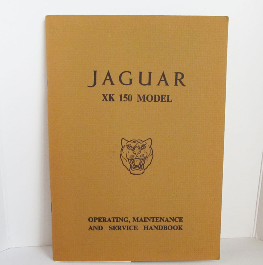 Jaguar XK150 Owners Manual Handbook 1958 1958 1960 1961