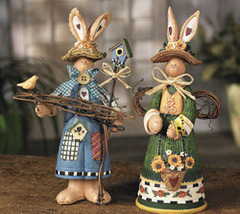 Image 0 of Boy & Girl Bunny Gardeners