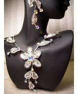 GENUINE AUSTRIAN CRYSTAL FLORAL JEWELRY SET Nec... - $12.50
