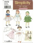 American Girl 18 in Doll Clothes Simplicity 392... - $6.93