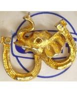 1968 Goldtone Elephant Pin Republican Nixon Pre... - $7.88